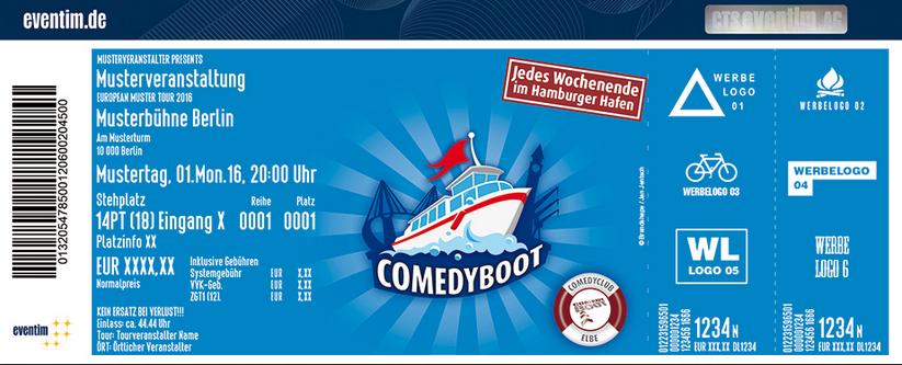 Comedy Boot Hamburg - Tickets für den JGA buchen
