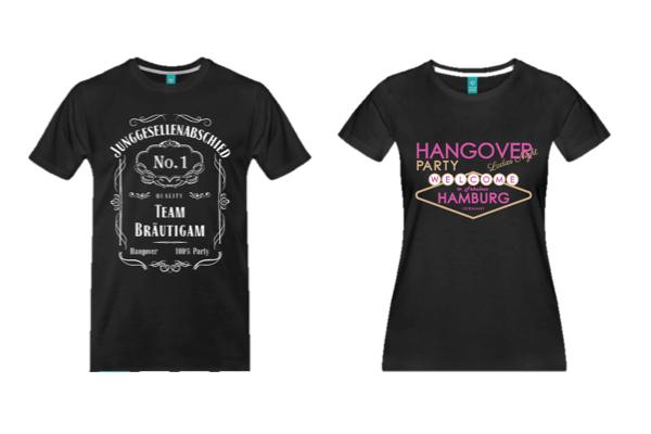 Coole Junggesellenabschied T-Shirts für Hamburg